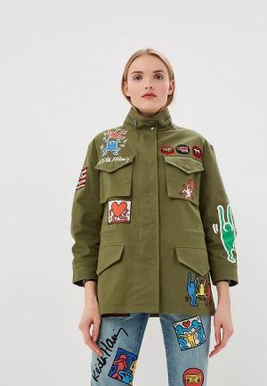 Куртка Alice + Olivia. Цвет: зеленый