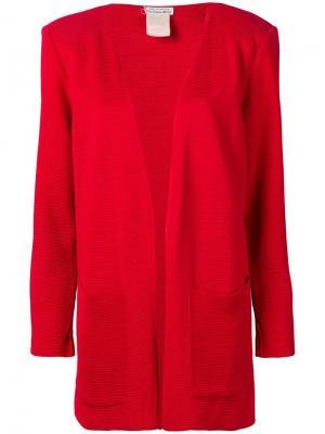 Фактурный пиджак 1980-х годов Christian Dior Pre-Owned. Цвет: красный