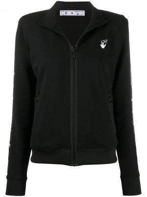 Спортивная куртка с логотипом Arrows Off-White. Цвет: черный