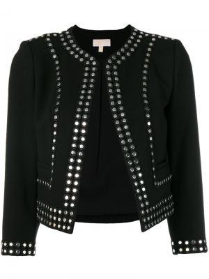 Приталенный пиджак с заклепками Michael Kors. Цвет: черный