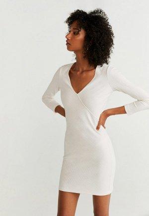 Платье Mango - NEUVERTU. Цвет: белый
