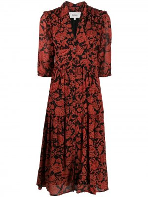 Платье-рубашка Aline с цветочным принтом Ba&Sh. Цвет: черный
