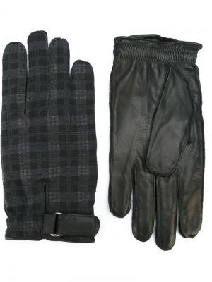Перчатки с контрастными панелями Orciani. Цвет: серый