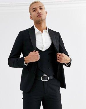 Приталенный пиджак от смокинга -Черный Devils Advocate