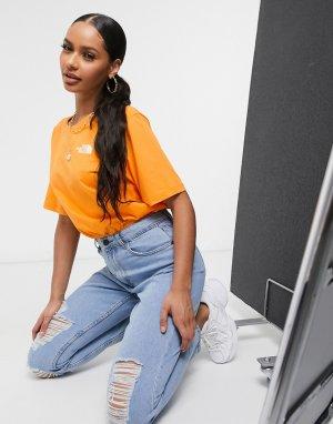 Оранжевая футболка бойфренда Simple Dome-Оранжевый The North Face