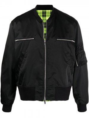 Двусторонняя куртка-бомбер Sankuanz. Цвет: черный