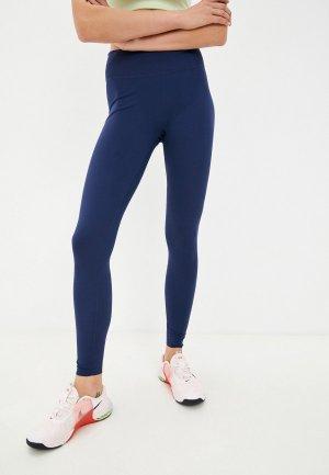 Тайтсы Nike W ONE LUXE MR TIGHT. Цвет: синий