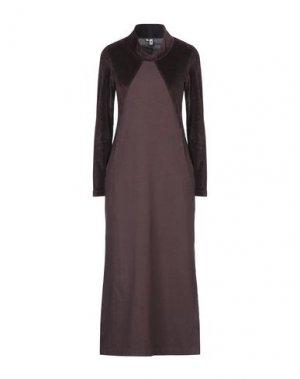 Длинное платье EUROPEAN CULTURE. Цвет: баклажанный