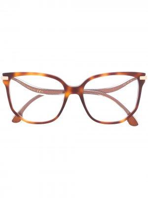 Очки в массивной оправе Jimmy Choo Eyewear. Цвет: коричневый