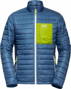 Куртка утепленная мужская Jack Wolfskin Routeburn, размер 58. Цвет: синий