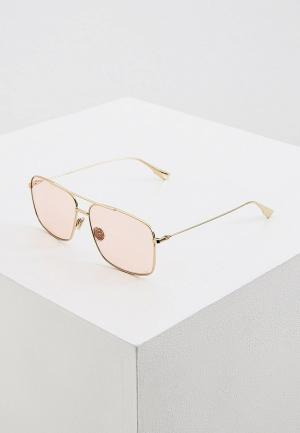 Очки солнцезащитные Christian Dior STELLAIREO3S J5G. Цвет: золотой