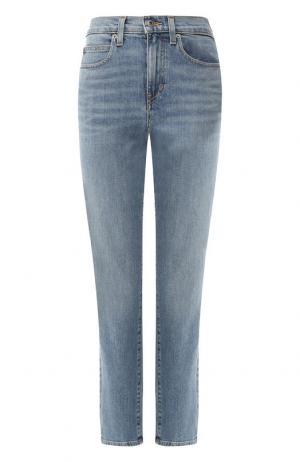 Укороченные джинсы с потертостями Proenza Schouler. Цвет: синий