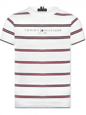 TEEN striped logo-print T-shirt Tommy Hilfiger Junior. Цвет: белый