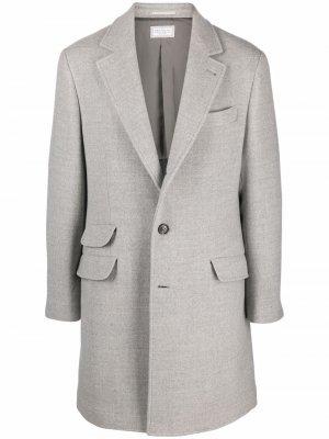 Single-breasted tailored coat Brunello Cucinelli. Цвет: серый