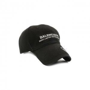 Хлопковая бейсболка Balenciaga. Цвет: чёрный