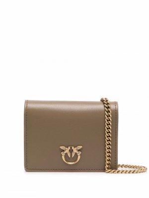 Mini Love leather bag Pinko. Цвет: зеленый
