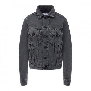 Джинсовая куртка Off-White. Цвет: серый