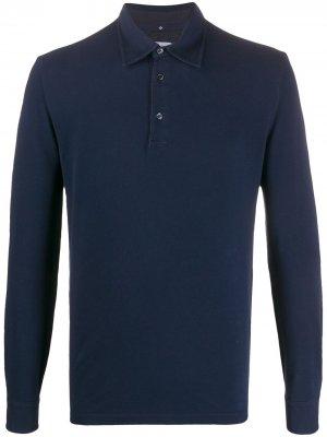 Long-sleeve polo shirt Ballantyne. Цвет: синий