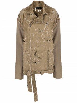 Куртка Boy Scout с эффектом потертости Barbara Bologna. Цвет: нейтральные цвета