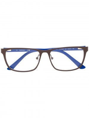 Очки в квадратной оправе Calvin Klein. Цвет: коричневый