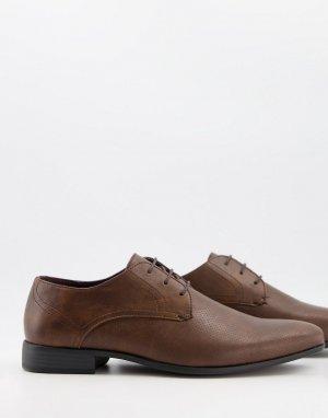 Коричневые дерби -Коричневый цвет Burton Menswear
