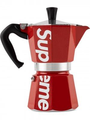 Гейзерная кофеварка Bialetti Supreme. Цвет: красный