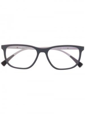 Очки в квадратной оправе Prada Eyewear. Цвет: серый