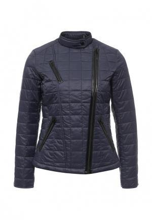 Куртка утепленная Bebe. Цвет: синий