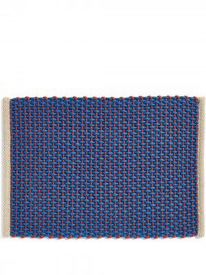 Плетеный придверный коврик HAY. Цвет: синий