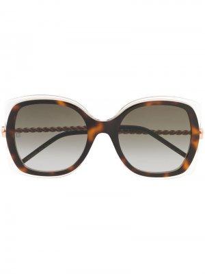 Солнцезащитные очки в массивной оправе Elie Saab