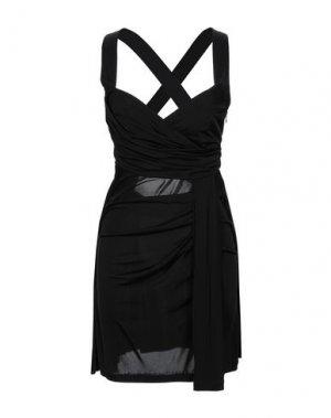 Короткое платье FLAVIO CASTELLANI. Цвет: черный