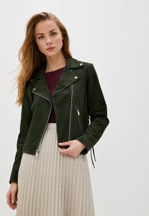 Куртка кожаная Lauren Ralph. Цвет: зеленый