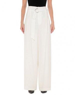 Повседневные брюки ELIE TAHARI. Цвет: белый