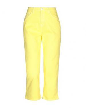 Джинсовые брюки-капри HAIKURE. Цвет: желтый