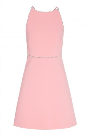 Короткое платье розового цвета Miu. Цвет: розовый