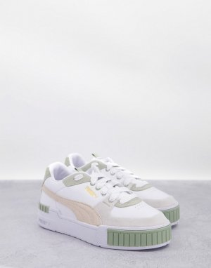 Кроссовки белого и шалфейно-зеленого цветов Puma Cali Sport-Белый