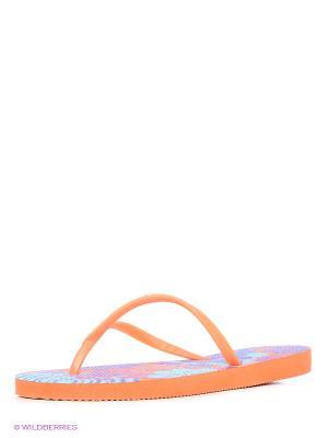Шлепанцы DUPE. Цвет: оранжевый