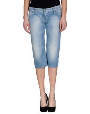Джинсовые брюки-капри JFOUR. Цвет: синий