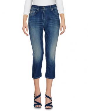 Джинсовые брюки-капри BETTY BLUE. Цвет: синий