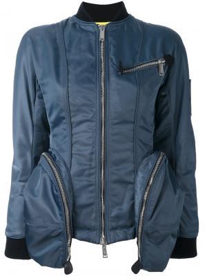 Куртка-бомбер с крупными карманами Dsquared2. Цвет: синий