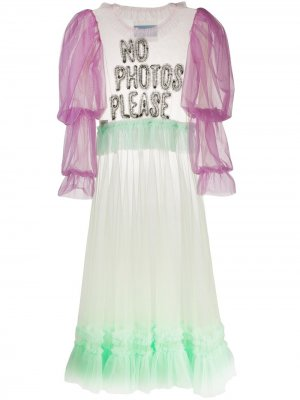 Длинное платье No Photos Please Viktor & Rolf. Цвет: зеленый
