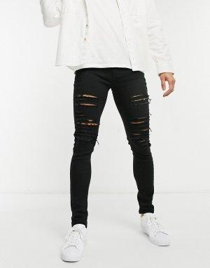 Черные джинсы скинни -Черный цвет Criminal Damage