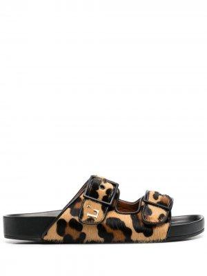 LAutre Chose сандалии с леопардовым принтом L'Autre. Цвет: коричневый