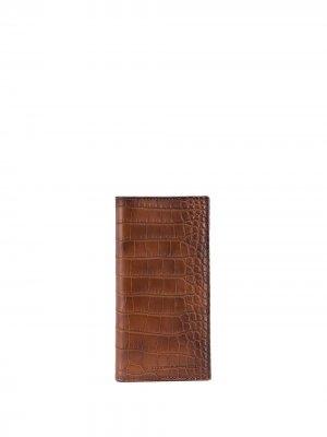 Картхолдер в два сложения Brunello Cucinelli. Цвет: коричневый
