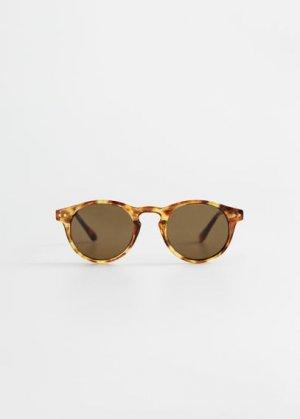 Солнцезащитные очки в пластиковой оправе - Porter Mango. Цвет: коньячный