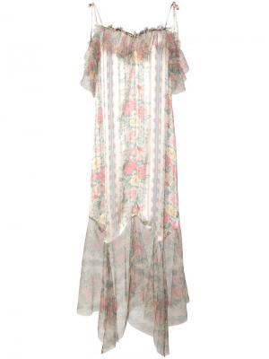 Платье на бретельках Anna Sui. Цвет: зеленый