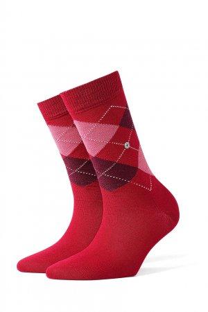 Красные носки Burlington. Цвет: красный