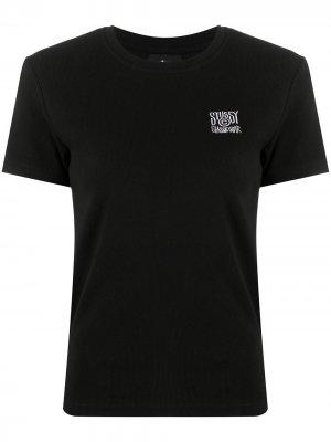 Embroidered crew neck T-Shirt Stussy. Цвет: черный