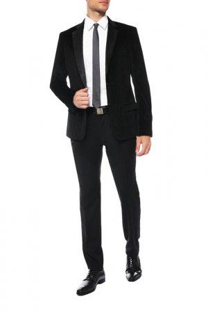 Пиджак-смокинг Frankie Morello. Цвет: черный