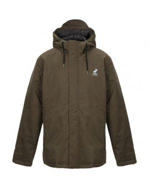 Куртка FAT MOOSE. Цвет: зеленый-милитари
